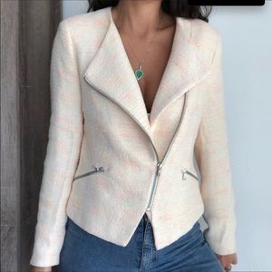 Zara Basic Tweed Moto Jacket